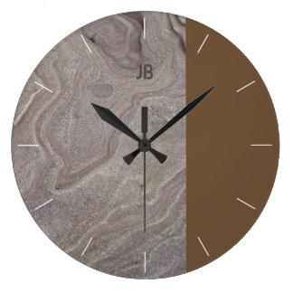 Relógio Grande Pedra & tom