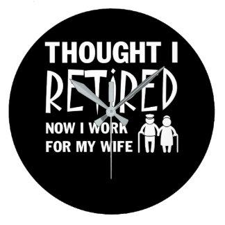 Relógio Grande Pensado eu era marido que da aposentadoria eu