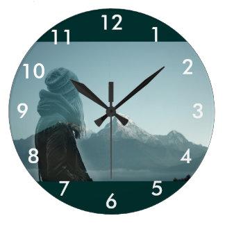 Relógio Grande Perdendo-se em você fotografia da exposição dobro