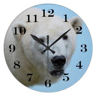 Relógio Grande Perfil dos ursos polares