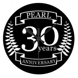 Relógio Grande Perolize o 30o aniversário de casamento 30 anos