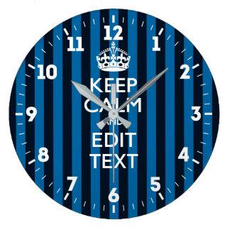 Relógio Grande Personalizado mantenha a calma para obter a seu