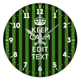 Relógio Grande Personalizado mantenha a calma para obter suas