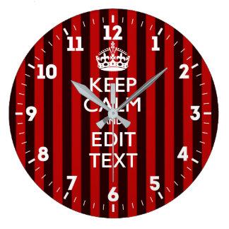 Relógio Grande Personalizado mantenha a calma para ter suas
