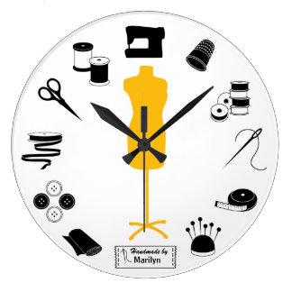Relógio Grande Personalize a etiqueta Sew certo