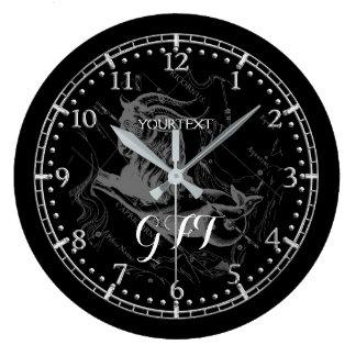 Relógio Grande Personalize o zodíaco da constelação do