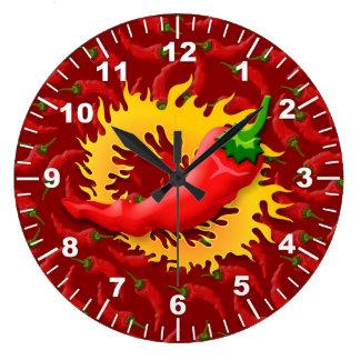 Relógio Grande Pimenta com chama