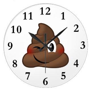 Relógio Grande Pisc o tombadilho Emoji