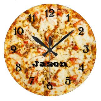 Relógio Grande Pizza no tempo pronto para ir