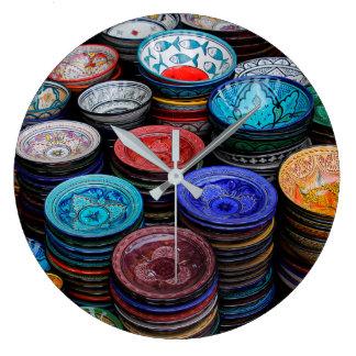 Relógio Grande Placas marroquinas no mercado