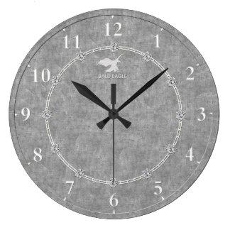 Relógio Grande Platina real 3 decorados modernos uma venda do