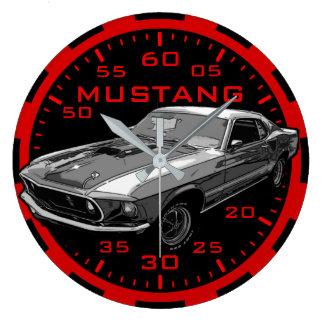 Relógio Grande Poder mecânico do mustang