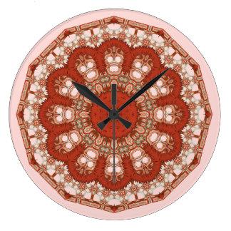 Relógio Grande Ponto vermelho do falso do rico da mandala