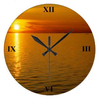 Relógio Grande Por do sol sueco das ilhas