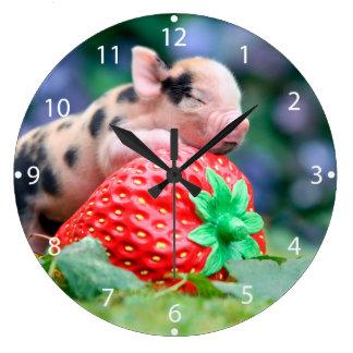 Relógio Grande porco da morango