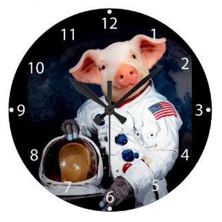 Relógio Grande Porco do astronauta - astronauta do espaço