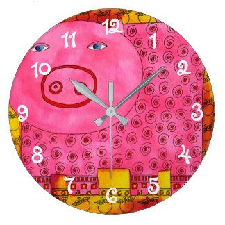 Relógio Grande Porco modelado