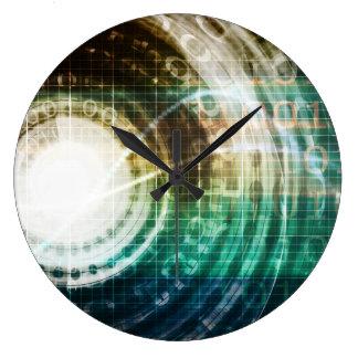 Relógio Grande Portal futurista da tecnologia com Digitas