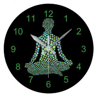 Relógio Grande Pose da ioga de Namaste meia Lotue personalizada