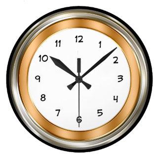 Relógio Grande Prata elegante do ouro do escritório domiciliário