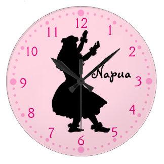 Relógio Grande Presente para o rosa havaiano do pulso de disparo