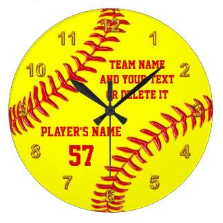 Relógio Grande Presentes superiores da noite do softball perfeito