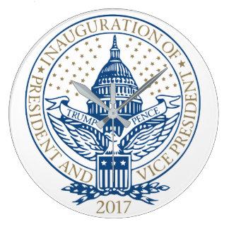 Relógio Grande Presidente Inaugural Logotipo Inauguração das