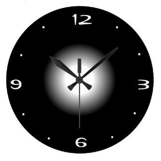 Relógio Grande Preto e branco lisos >Kitchen o pulso de disparo