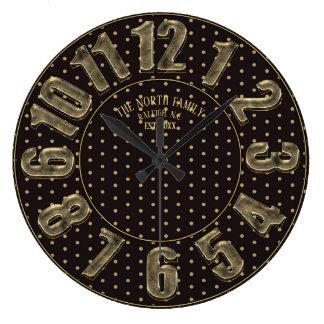 Relógio Grande Preto e número das bolinhas do ouro grande