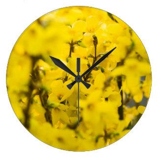 Relógio Grande Primavera amarelo