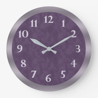 Relógio Grande Profundamente - cinzas roxas da lavanda
