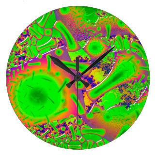 Relógio Grande Psicadélico Dichroic de néon