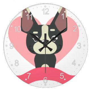 Relógio Grande Pug Love
