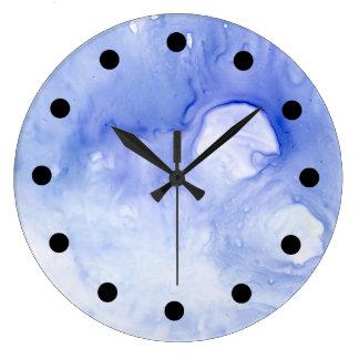 Relógio Grande pulso de disparo abstrato da aguarela da violeta