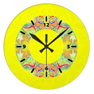 Relógio Grande Pulso de disparo amarelo brilhante com rosquinha