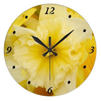Relógio Grande Pulso de disparo amarelo brilhante dos Daffodils