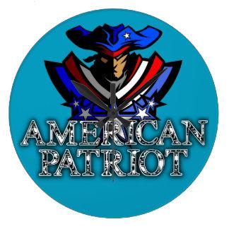 Relógio Grande Pulso de disparo americano do patriota
