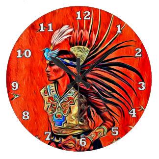 Relógio Grande Pulso de disparo asteca do nativo americano do