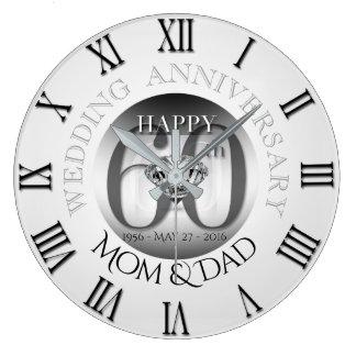 Relógio Grande Pulso de disparo B N romano do aniversário de