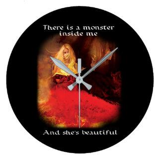 Relógio Grande Pulso de disparo bonito do monstro (Mac 9,0)