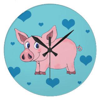 Relógio Grande Pulso de disparo bonito dos corações de porco