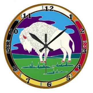 Relógio Grande Pulso de disparo branco do nativo americano do