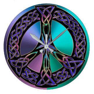 Relógio Grande Pulso de disparo celta colorido legal do sinal de