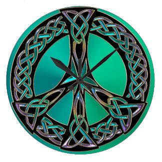 Relógio Grande Pulso de disparo celta do sinal de paz do nó do