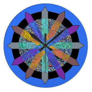 Relógio Grande Pulso de disparo com design geométrico moderno