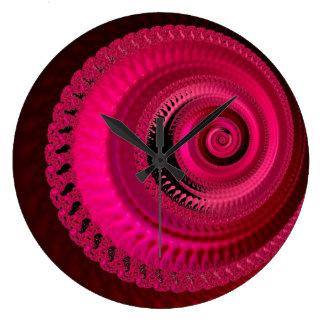 Relógio Grande Pulso de disparo cor-de-rosa brilhante do fractal