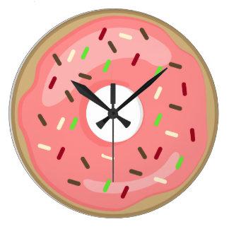 Relógio Grande Pulso de disparo cor-de-rosa da filhós