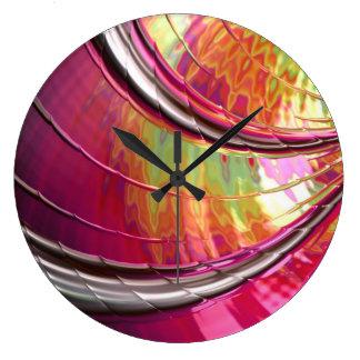 Relógio Grande Pulso de disparo cor-de-rosa de néon da arte