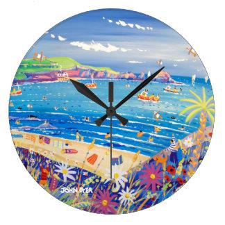 Relógio Grande Pulso de disparo da arte: A baía Cornualha de Ivey