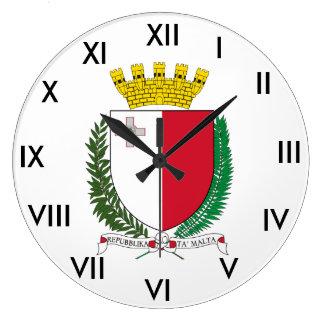Relógio Grande Pulso de disparo da brasão de Malta